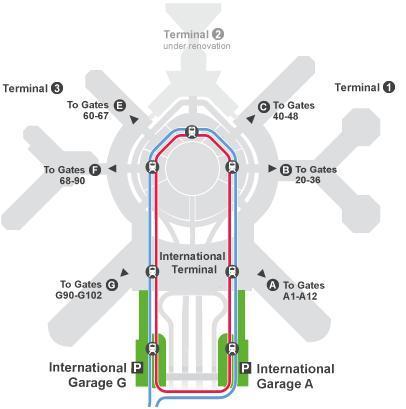 サンフランシスコ国際空港 エアートレイン air train , SFO